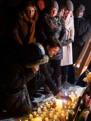 Canadian Prime Minister Justin Trudeau participates in a candle light vigil for victims of the Ukraine International Airlines plane crash on Jan. 9, 2020, in Ottawa, Ontario.