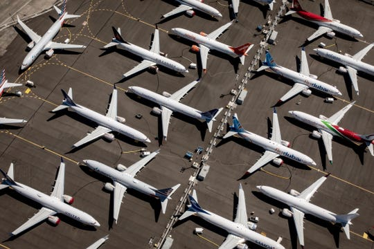 Boeing 737 aircraft sit parked at Boeing Field in Seattle, Washington,internal Boeing messages were released in which one of the employees allegedly said the Boeing 737 Max was 'designed by clowns'. The plane was grounded by aviation regulators and airlines around the world in March 2019 after 346 people were killed in two crashes.
