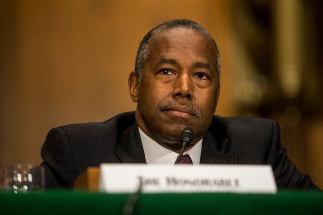 U.S. Housing and Urban Development Secretary Ben Carson testifies during a Senate Banking, Housing, and Urban Affairs Committee hearing on September 10, 2019 in Washington, DC.