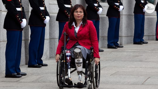 Thai American Iraq war veteran Sen. Tammy Duckworth (D-Illinois) is one of 17 members of Congress who have Asian or Pacific Islander roots.