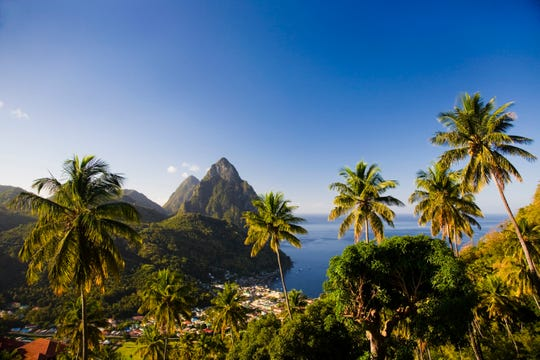 Saint Lucia: This island's tranquil hillsides and couples oriented resorts make it an ideal location for travelers in the mood for romance. There are a number of chocolate tours, hikes, and couples spa treatments all around the island. For a little relaxation, Sugar Beach's Rainforest Spa's Romantic Escape Ritual includes a couples massage, champagne, and truffles.