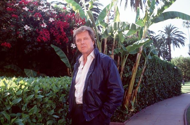 "Edd Byrnes, the hip-talking Kookie from the hit TV show, ""77 Sunset Strip"" stands outside the Beverly Hills Hotel in this 1993 photo."