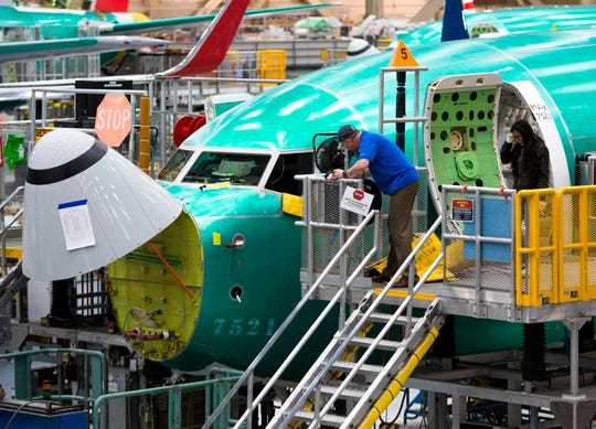 Boeing suspended production of 737 Max airplanes.