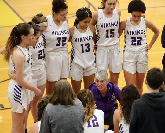 North Kitsap girls basketball coach Penny Gienger has guided the Vikings to the regional round of the state playoffs in five consecutive seasons.