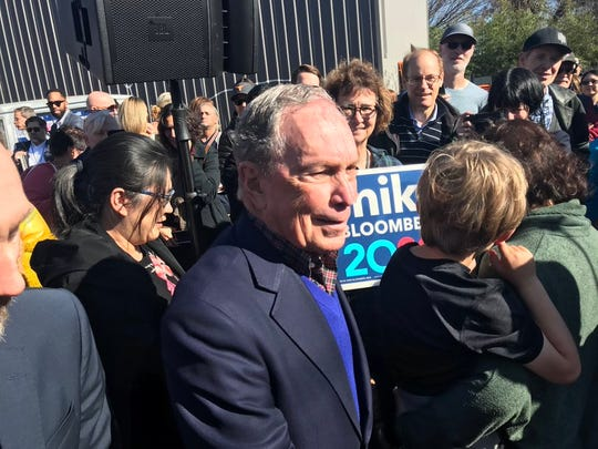 Democratic presidential candidate Michael Bloomberg visits Austin as part of a three-city campaign swing through Texas on Saturday, Jan. 11, 2020.