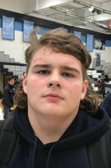 Senior Mark Loveland earned a 3-1 win at 285 pounds on Friday. He has given his new teammates experience and skill at heavyweight after winning 34 times at Rancocas Valley last year.