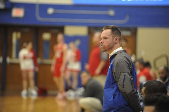 Chillicothe head coach Eric Huffer earned his 100th career win with a 63-37 win over Hillsboro on Friday Jan. 10, 2020 at Chillicothe High School in Chillicothe, Ohio.