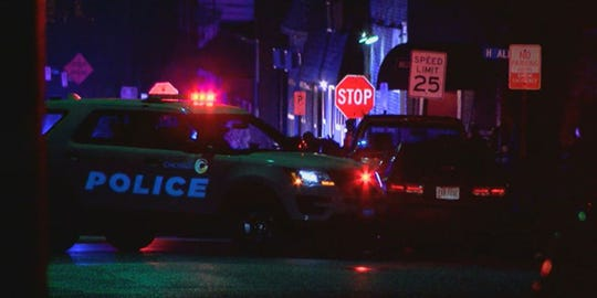 A large amount of police arrived in North College Hill Saturday morning after shooting occurred.