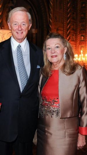 Kate Ford, right, and Frank Chopin at the Susan G. Komen Perfect Pink Party at Mar-a-Lago in 2015.