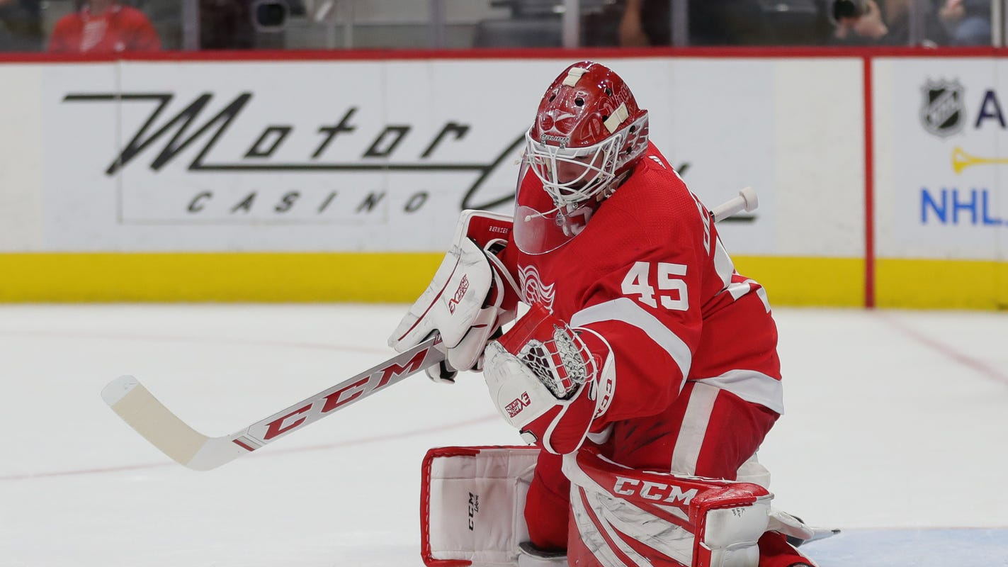 Detroit Red Wings' goalies lonely as they wait for teammates. Here's why