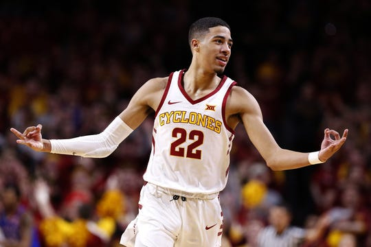 Tyrese Haliburton, Iowa State, 6-5, 175 sophomore guard. 2019-20 stats: 15.2 points, 5.9 rebounds, 6.5 assists, 2.5 steals, 41.9% 3FG. Scouting report: High IQ, good vision and shooting touch, but struggles to create at times.