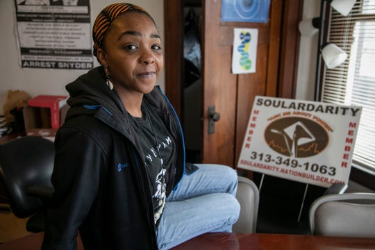 Shimekia Nichols, 37, deputy director of Soulardarity, poses in her Highland Park office on Jan. 3, 2020.