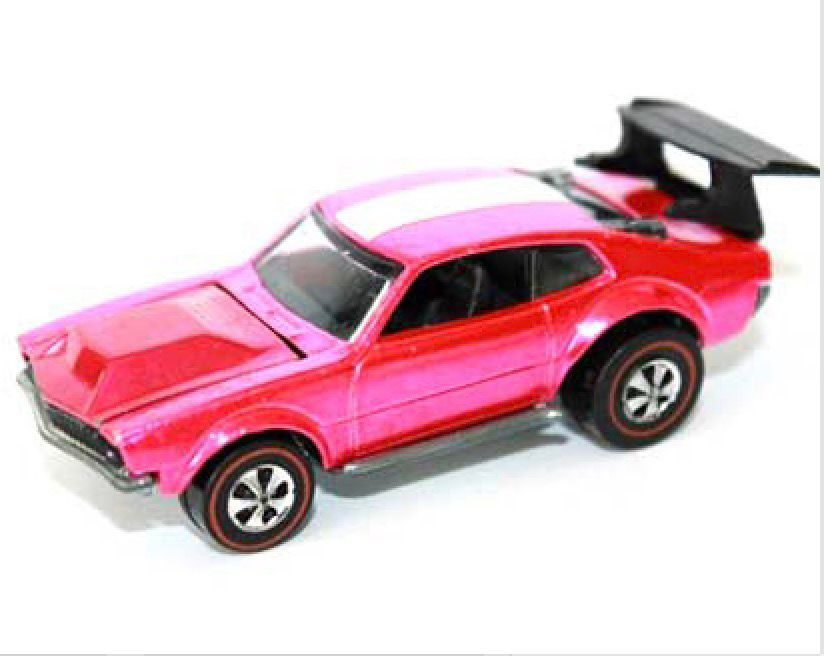 Hot Wheels cars like this one modeled on the 1970 Ford Maverick will be in big demand at the Royal Oak Toy Show.