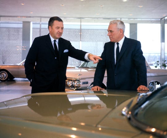 Henry Ford II and John Dykstra at Ford world headquarters in Dearborn in 1962.