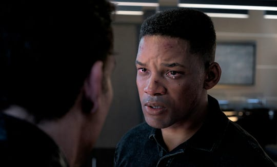 """This image released by Paramount Pictures shows Will Smith as Junior in a scene from """"Gemini Man."""""""