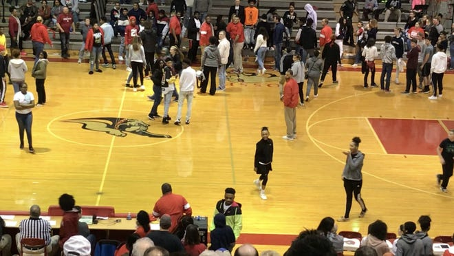 The Bosse-Central basketball game was delayed in the fourth quarter due to an altercation in the stands.