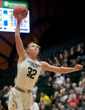 Annie Brady, shown in a file photo, led CSU in scoring in Thursday's loss at Air Force.