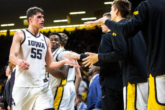 Iowa center Luka Garza is used to getting a lot of attention from opponents and teammates alike this season. He leads the Big Ten Conference in scoring at 22.3 points per game. Next up is a Michigan team that allowed Garza to score 44 in the first meeting, but walked away with a win.