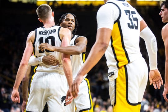 Especially when CJ Fredrick is out, the Hawkeyes need to keep embracing the idea that Joe Wieskamp (10) is their best chance at closing out road games in the rugged Big Ten.