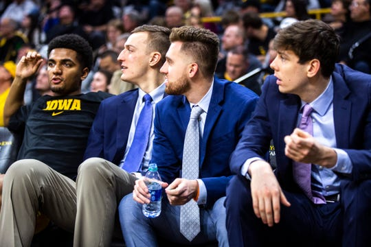From left, Jack Nunge, Jordan Bohannon and Patrick McCaffery were expected 2019-20 contributors who combined for just 17 games last season.