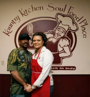 Kountry Kitchen Soul Food Place owners Isaac and Cynthia Wilson at the restaurant the week before they served hundreds of free Christmas Day meals in 2020 to anyone who needed dinner. Volunteers also delivered meals to shelters, institutions and homeless people without  shelter.