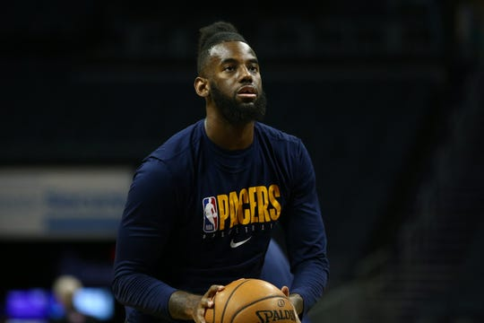 Indiana Pacers forward JaKarr Sampson (14)  knows he has to be ready to enter the lineup at any time.