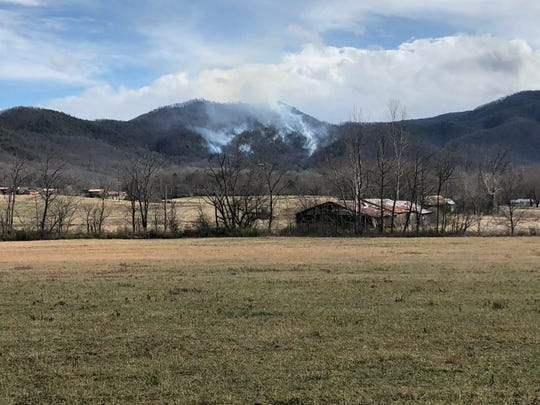 A brush fire in Wears Valley spanned 60 acres and was 0% contained as of 2:15 p.m. Saturday, Jan. 11, 2020.
