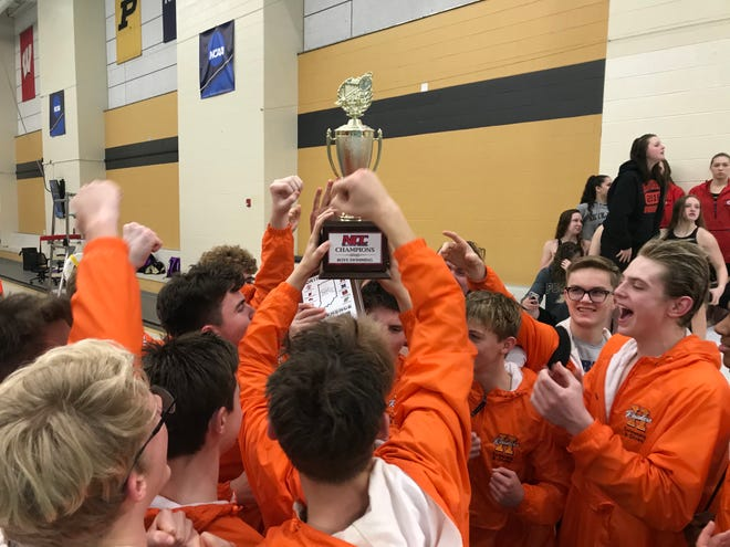 Harrison won its sixth straight North Central Conference boys swimming championship on Saturday.