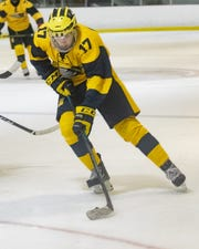 Hartland's Andrew Larson scored twice in a 3-1 victory over Detroit U-D Jesuit.