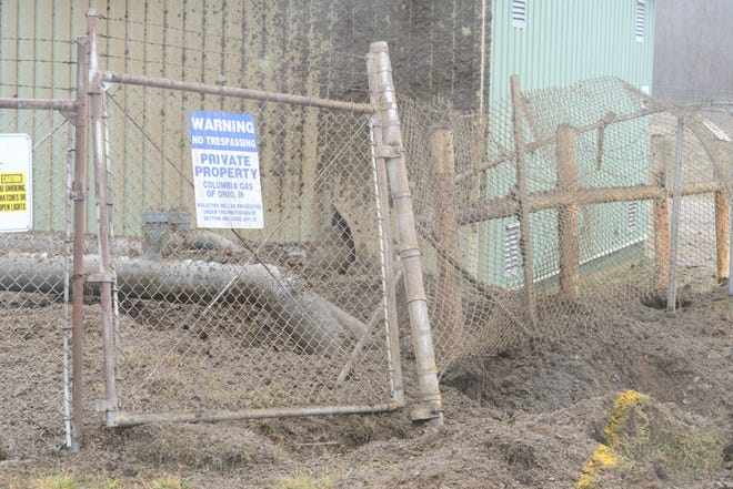 Work to repair damage caused by a gas leak at Columbia's town border station began Sunday.