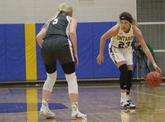 Ontario's Carleigh Pearson has the Lady Warriors at No. 4 in the Richland County Girls Basketball Power Poll.