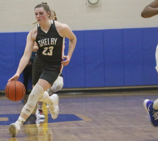 Shelby's Olivia Baker has the Lady Whippets tied at the top of the Richland County Girls Basketball Power Poll.