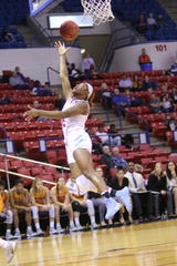 Louisiana Tech sophomore Keiunna Walker (2) scores a layup against UTEP Saturday at the Thomas Assembly Center.