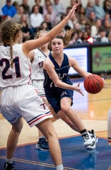 Montgomery Academy's Madi Caddell (10) against Trinity on the Trinity campus in Montgomery, Ala., on Friday January 10, 2020.