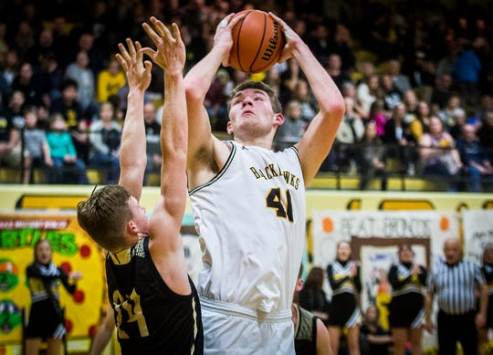 Cowan's Riley Duncan goes up for a shot during a game against Daleville at Cowan High School Friday, Jan. 10, 2020.