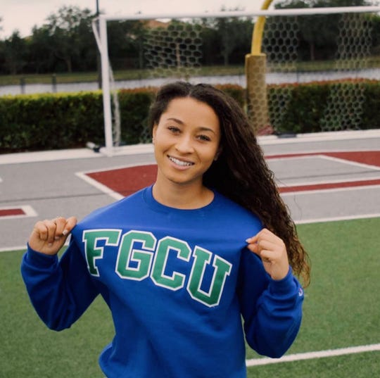 FBA's Malaya Melancon announced her commitment to play for Florida Gulf Coast University on Saturday. Melancon is the first girls soccer player from FBA to commit to a Division I school in history.