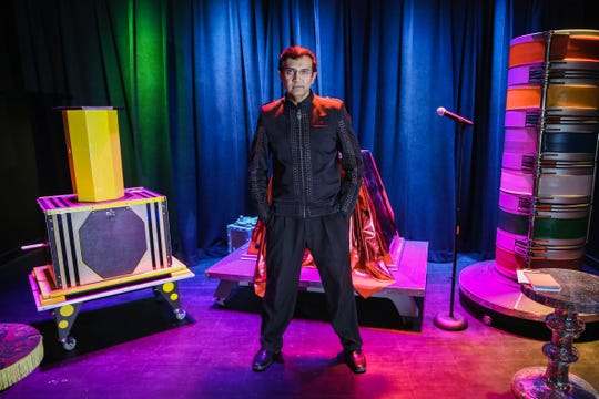 Imran Raza, owner of Raze Studio Illusions and Magic in Las Cruces, appears on stage Friday, Jan. 10, 2019. Raza, a native of Pakistan, is an illusionist and a doctor.