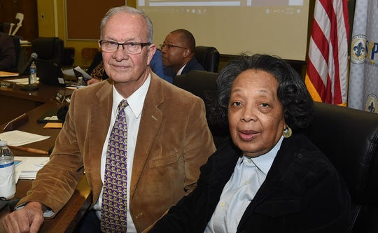 St. Landry Parish School Board President Donnie Perron (left) and Vice President Hazel Sias.