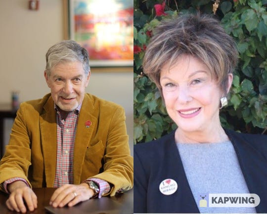 Stephen R. Jaffe and Maggie Lockridge say the In-N-Out drive-thru approved by the City Council to be built near their homes is the primary reason they are running for the Rancho Mirage City Council.