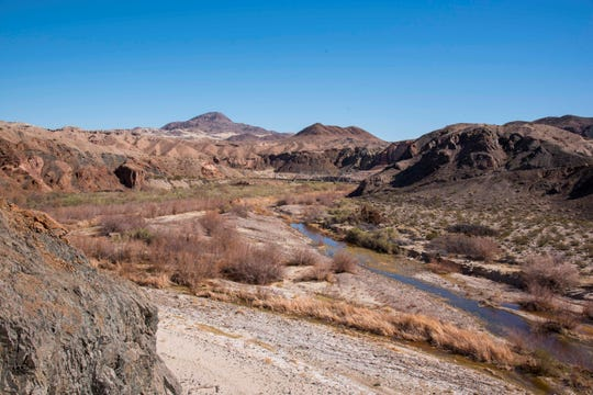 Afton Canyon is located south of Interstate 15 and east of Barstow.