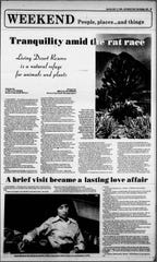 A 1980 Desert Sun article about The Living Desert Reserve and its founding director Karen Sausman, who went on to lead the park for 39 years, eventually becoming president and then president emeritus after her retirement in 2009.
