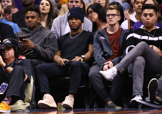 Kyler Murray at the Suns games in the first half at Talking Stick Resort Arena on Jan. 10, 2020 in Phoenix, Ariz.