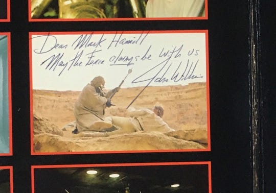 Bookmans Flagstaff employees returned a record autographed by John Williams that Hamill hadn't seen since the '90s.