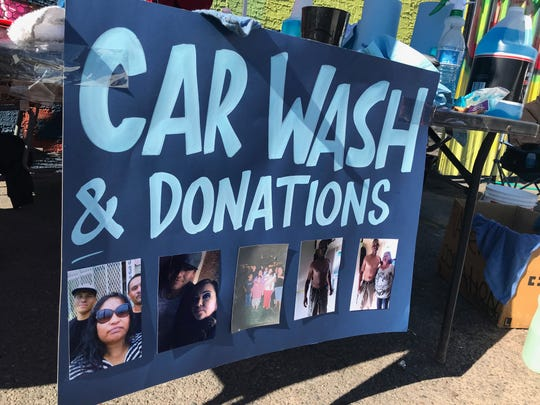 The car wash to raise money for the family of Xavier Rovie was held on Saturday, Jan. 11, 2020.