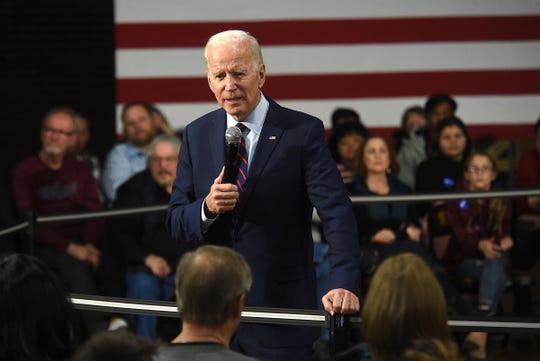 Presidential candidate Joe Biden speaks during a campaign rally at Sparks High School in Sparks, Nevada on Jan. 10, 2020.