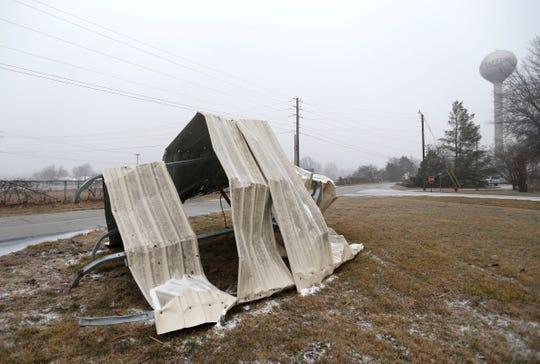 Storm damage in Strafford on Saturday.