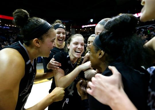 """""""You remember these moments for the rest of your life,"""" Lady Bears head coach Amaka Agugua-Hamilton said after Friday night's thrilling win over the Drake Bulldogs."""