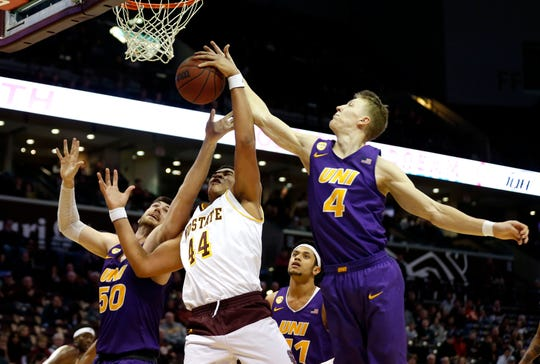 Missouri State took on the University of Northern Iowa Panthers at JQH Arena on Saturday.