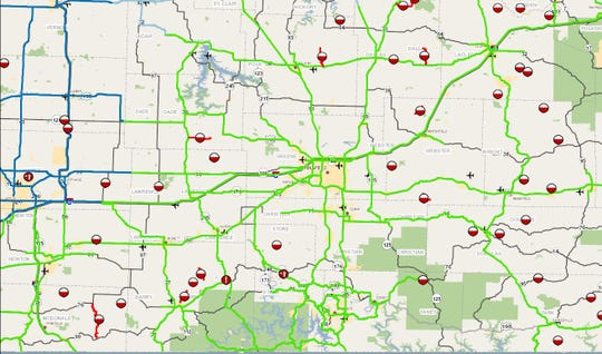 Several roads in southwest Missouri are impassable following heavy rainfall Friday night.