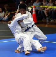 Two judokas compete on the mat during the 2nd Annual Capital City Judo Championships at Florida High on Saturday, Jan. 11, 2020.